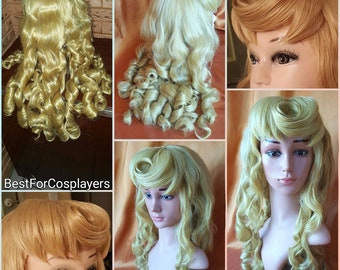 Sleeping Beauty Aurora Wig. Handmade Original.