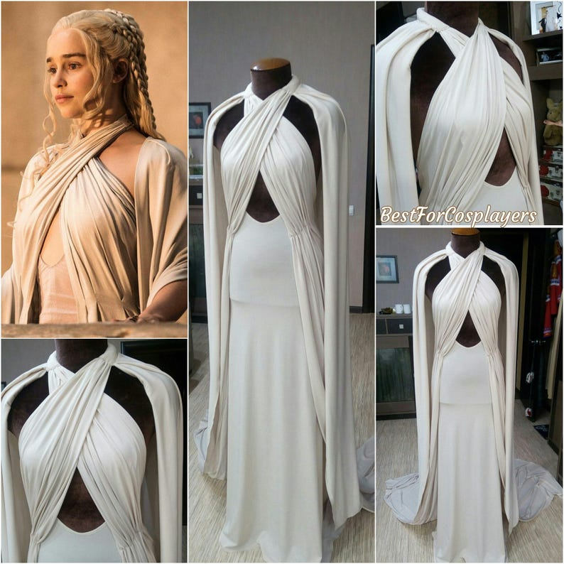 Daenerys Targaryen Dress. Game of Thrones, Cosplay Costume, Dress
