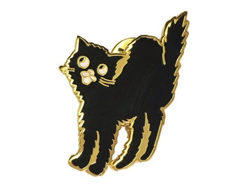 Scaredy cat Enamel Pin