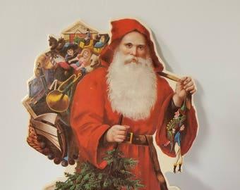 Vintage Father Christmas , Vintage Santa ,  Victorian Christmas , Vintage Christmas Decor , Nostalgic Christmas , Winslow Papers