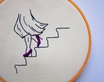 The Heels Were Made For Walking // Hand Embroidery