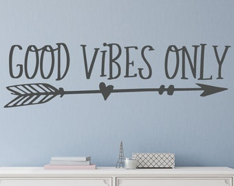 Awesome Good Vibes Only Wall Decal  Good Vibes Only Decal  Good Vibes Only Wall  Decor  Teen Wall Decal  Teen Room Decor  Teen Girl Room Decor
