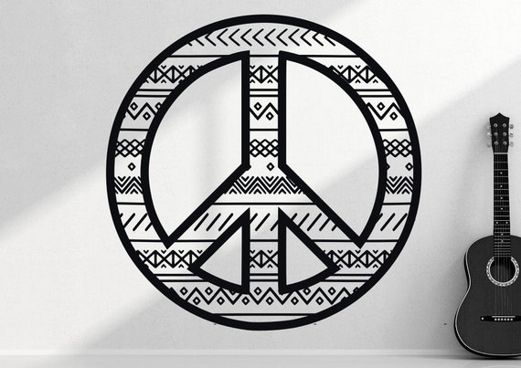 Peace sign wall decal Peace wall decal Peace sign decal | Etsy