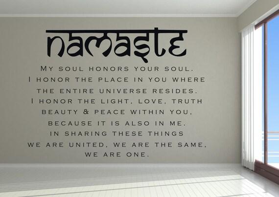 Namaste wall decal Namaste wall decor Namaste decal | Etsy