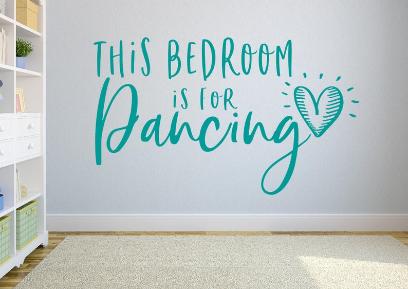 Dans muur sticker dance decor meisjes kamer ballet muur etsy