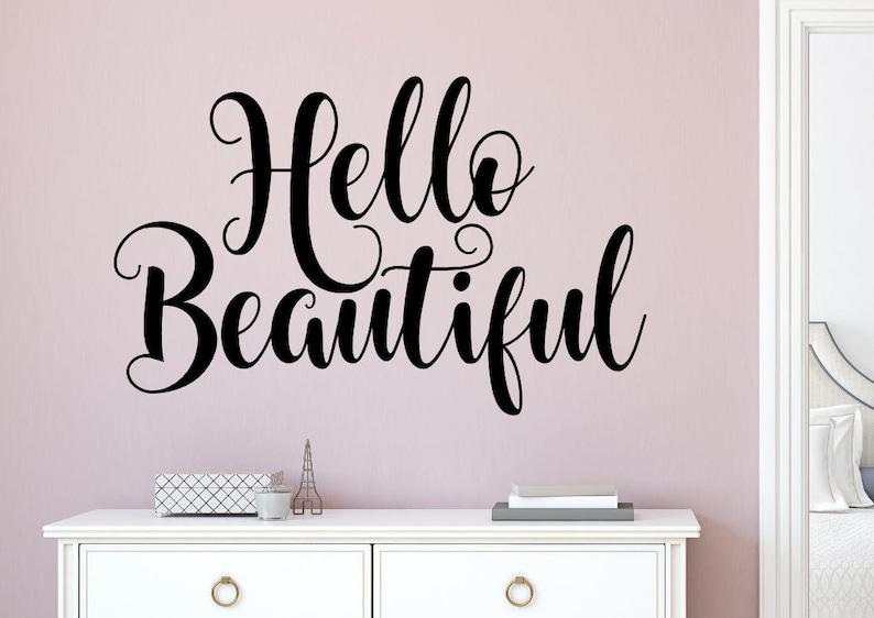 Hallo schöne Aufkleber Hallo schöne Wand-Dekor Hallo | Etsy