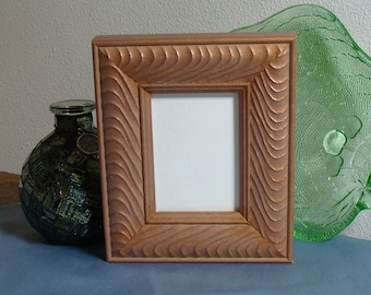 """Bronze Wood Picture Frame for Art Cards, Miniatures, Small Prints, Photos,  2.5 x 3.5""""  - Anti Reflective Glass, Backing & Hardware, Ornate"""