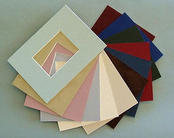 """6 ACEO  Picture Frame Mats  to Fit  2.5 x 3.5""""  Photos or Art Miniatures Color Variety Choose Your Frame Size Archival Name Brand Matting"""