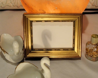 """Genuine Gold Leaf Picture Frame Holds 2.5  x 3.5"""" Small Photo, ACEO, Trading Card, Art Card, Painting , Art, Museum Glass, Hardware, Backing"""
