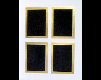 """Picture Framing Mat / Trading Cards, ACEO, Double Matting with  4 Openings   2.5 x 3.5"""" Art / Photo Fits 8x10"""" Frame Multi Opening Colage"""