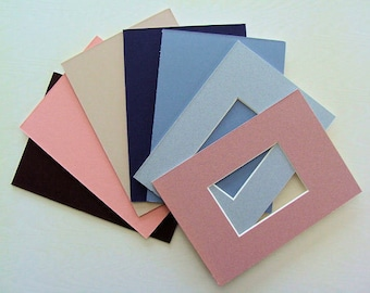 """ACEO Picture Frame Mats 6 Six  to Fit  2.5 x 3.5""""  Photos or Art Miniatures Choose Color Group & Frame Size You Want to Fit Archival Quality"""