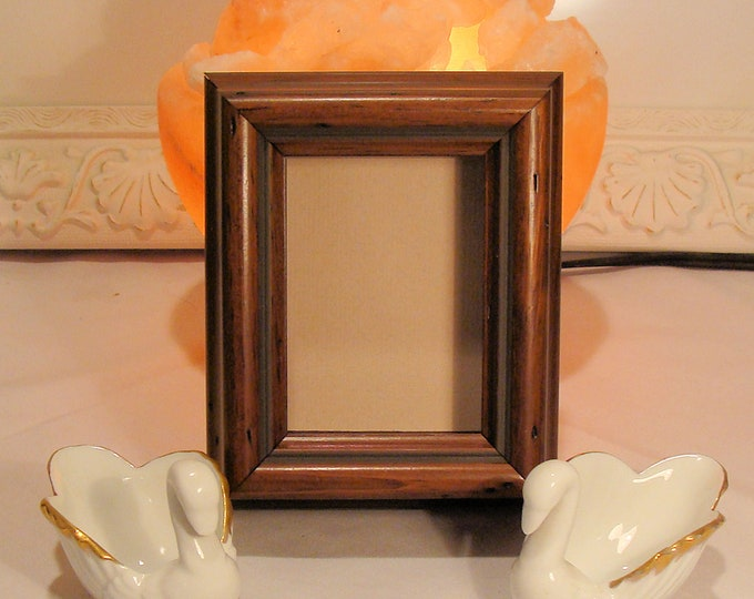"""Walnut Shadow Box Picture Frame 7/8"""" Deep Holds Keepsakes, Up To 2.5 x 3.5"""" Museum Glass, Display Your Miniature Tiny Treasures -  ACEO"""