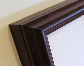 "Shadow Box Picture Frame Wood Frame America Moulding  Holds 11 1/2"" x 14 1/2"" - 2"" Deep, Brown Finish, Add your Glass and Lining Materials"