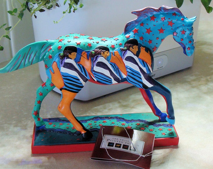 Caballito Trail of the Painted Ponies 2E/0703 by Amado Pen in 2005 New in Box Horse Statue has Never Been Displayed