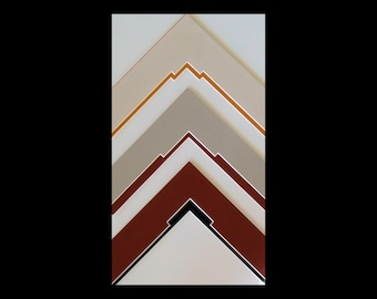 """Double Picture Frame Mats with Fancy Cut Corners, 11 x14 for 8x10"""" Art,  Photo or Diploma Other  Custom Sizes Available Archival Quality"""