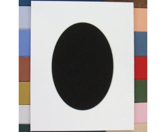 Picture Framing Mat Oval Opening  Matting Choose Size & Color Archival Quality Acid and Lignin Free for Art or Photos Customization Welcome