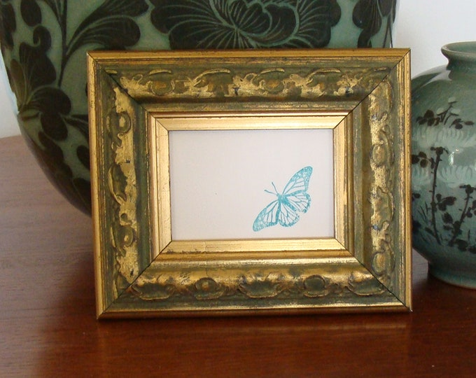 NEW Quality plastic ACEO Art//sports card 3.5 x 2.5 green picture frame