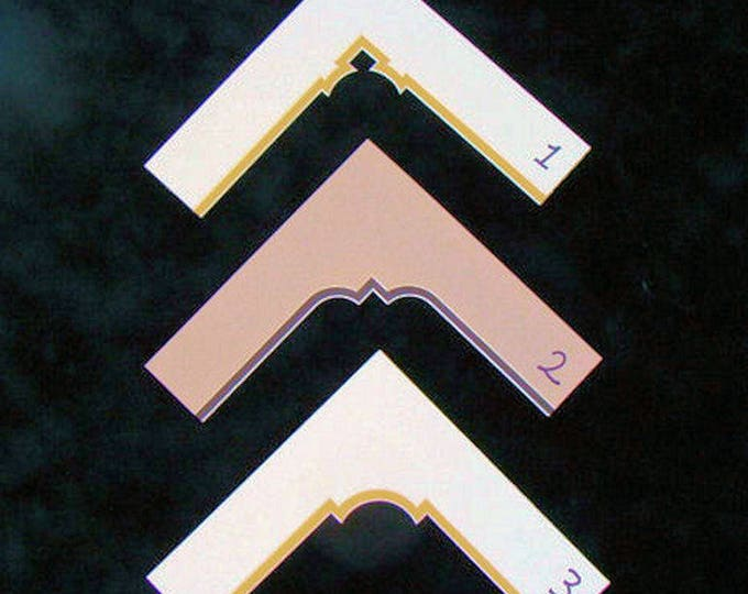 """Double Mat for Picture Frame Fancy Cut Corners, Choose Your Corner Cut Size & Color Custom Sizes Up to 11 x 14"""" Archival Quality Matting"""