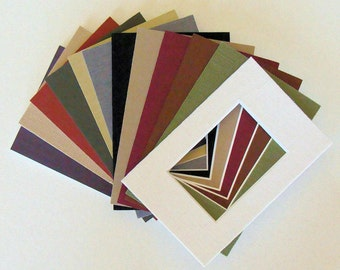 """6 ACEO Fabric Picture Frame Mats Matting for 2.5 x 3.5""""  Originals Prints  Photos or Art Miniatures Color Variety Choose Frame Size to Fit"""