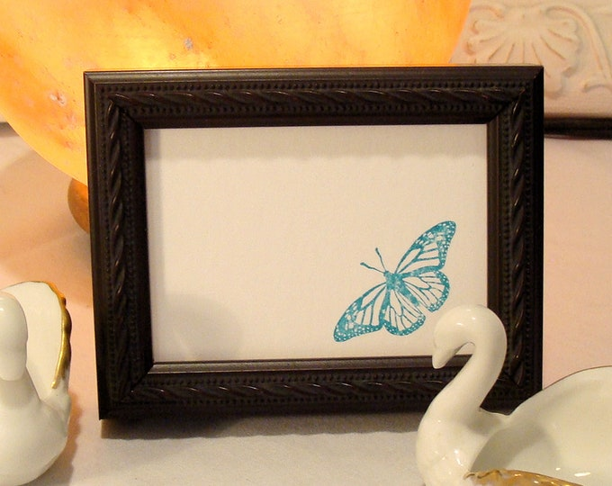 """Wood Picture Frame Art Cards, ACEO's, Trading Cards, Small Prints, Photos  2.5 x 3.5""""  Museum Glass  Hardware Raised Braid Trim / Classic"""