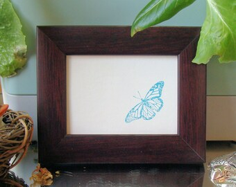 """Mahogany Finish Wood Picture Frame  Classic  Style  Art Cards, ACEO's, Trading Cards, Small Prints, Photos  2.5x3.5""""  Museum Glass  Hardware"""