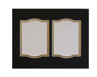 """Double Opening Archival Mat  8.5 x 11"""" Matting Holds  2 -  3.5 x 5""""  Photos or Art Two Layer Matting Choice of ColorsOther Sizes Available"""