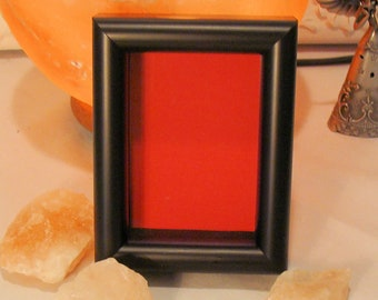 """Wood Shadow Box Wood Picture Frame 3/4""""  Deep Holds Keepsakes Up To 2.25 x 3.2.5"""" Museum Glass, Choose Mat Color for Jewelry, Coins, etc"""