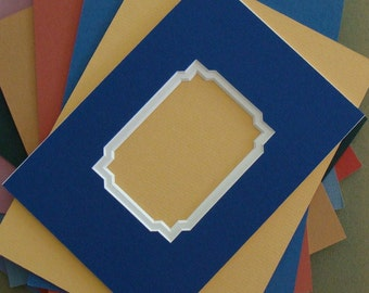 Double Mat for Photo or Art Acid Freel Matting Choice of Colors and Size Fancy Corner Cuts Archival Matboard Custom Sizes Also Available