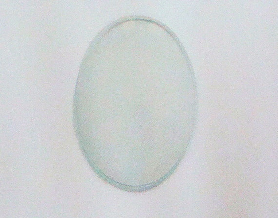 Convex Oval 5 X 7 Glass To Fit Picture Frame Etsy