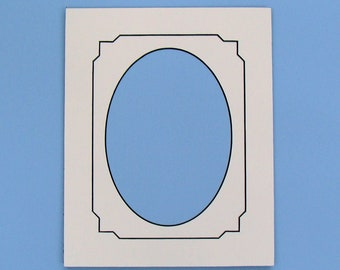 Picture Framing Mat with Fancy Decorative Octagonal V-Groove, Choose Size & Color Archival Quality Matting  for Art or Photos Brand Name