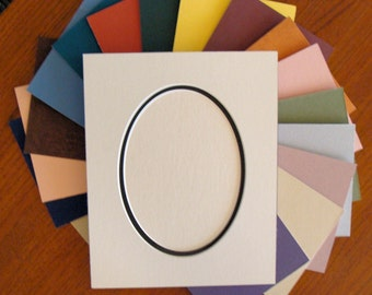 Picture Framing  Mat Oval Opening Two  Layer Matting Choose Size & Color Archival Quality Acid and Lignin Free for Art or Photos