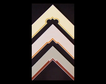 Double Picture Frame Mats 11x14 for 8x10 -  Fancy Cut Corners, Choice of  Cuts & Color Custom Sizes Available Archival Quality to Preserve.