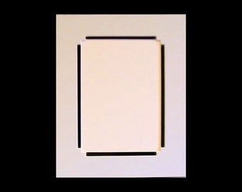 Picture Framing Mat with Fancy Corners -  Choose Size and Color for Art or Photo - Archival Quality Double Mat