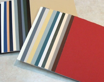 """Mat Board Blanks for Picture Framing Art Crafts or Photos 6 Pieces Color Variety Archival Quality Mats Choose Size up tp 12 x 16"""""""