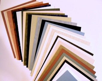 Fabric Mat Board Matting Blanks for Picture Framing Art Phtos or Crafts 6 Pieces Color Variety Archival Quality Matboard Choose Size