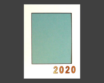 """Document Mat for  Holds  8.5 x 11"""" Certificate Customize with Date or Initials Fits in Standard 12 x 16"""" Picture Frame, Archival Matting"""