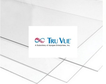 Glass 4 Pieces for Picture Framing Tru Vue Premium Clear Glazing Quality Glass for Your Prints, Photos & Art Choose Size 2.5mm Thickness