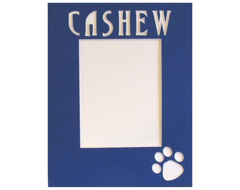 """Picture Frame Mat for Your Dog """"Memorial""""  Choice of Letters and Cut Art Just Let Us Know What You Have In Mind, Custom  Sizes and Colors"""