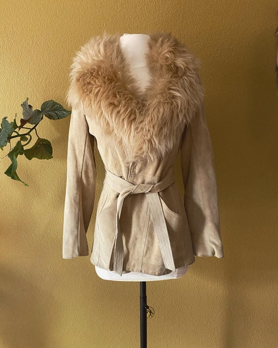 70s Honey Penny Lane coat with sheepskin collar