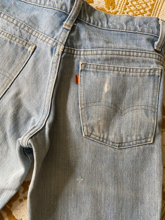 Levi's Orange Tab Bell bottoms with small denim p… - image 2