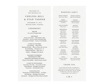 Catholic Wedding Program.Catholic Wedding Program Etsy