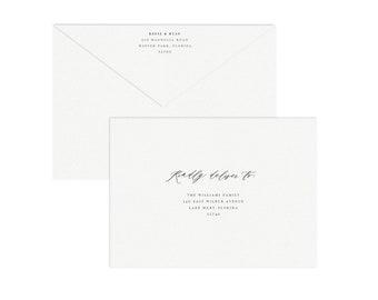 adel a6 envelope template printable wedding invitation etsy