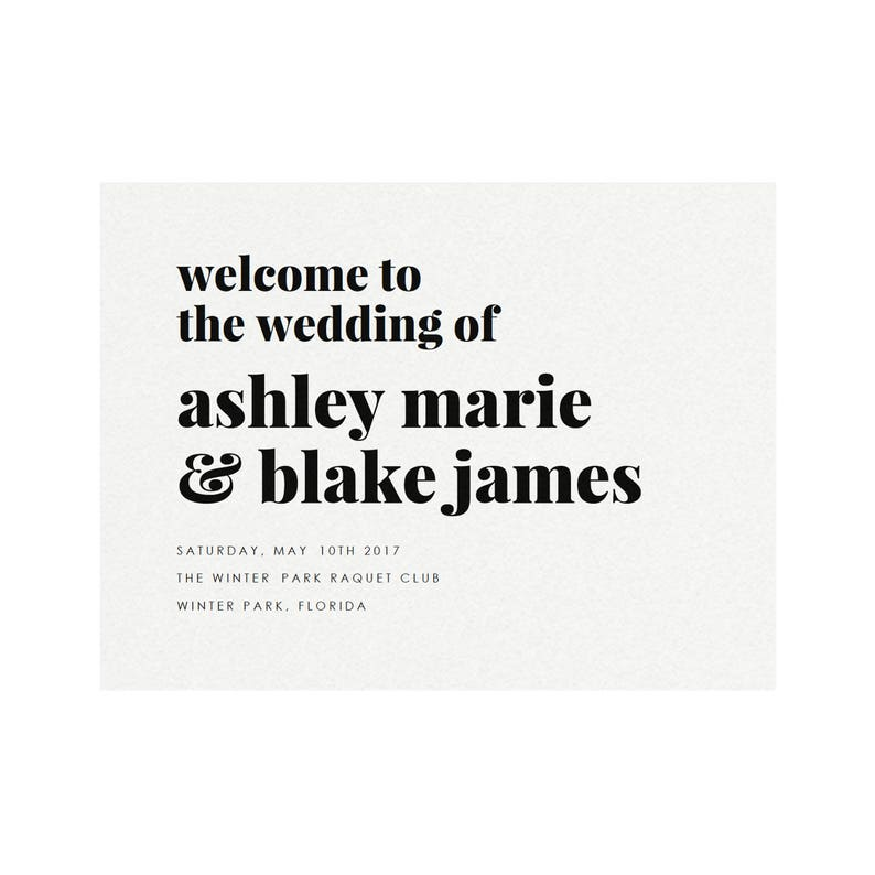 graphic about Sign Templates named Fairfax: 18x24 and 24x36 Welcome Indication Template, Function Welcome, Ground breaking Printable Wedding ceremony Signal, Minimalist Reception, PDF Immediate Obtain