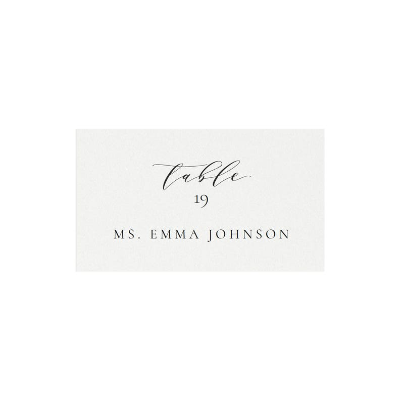 Template 5302 | Melia 3 5x2 Escort Card Template Avery 5302 Calligraphy Escort Card Classic Wedding Simply Editable Place Card Pdf Instant Download