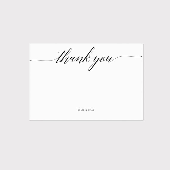 thank you stationery template