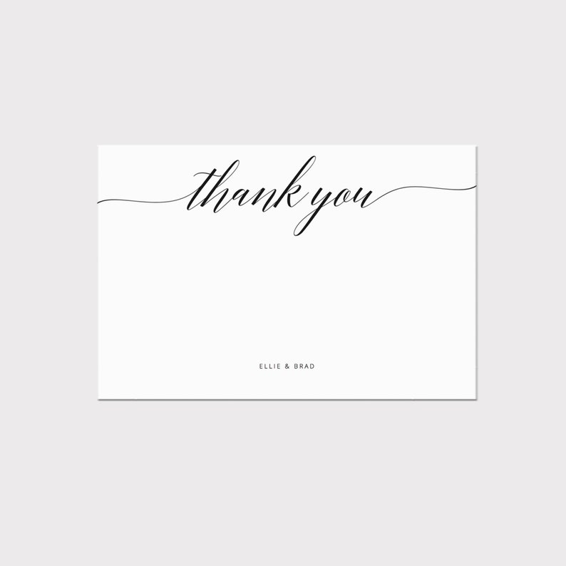 photo regarding Printable Thank You Card Template referred to as Printable Thank By yourself Card Template, Whimsical Calligraphy Thank By yourself Card, Editable Stationery, Wedding day Card, PDF Instantaneous Obtain #SS002_4