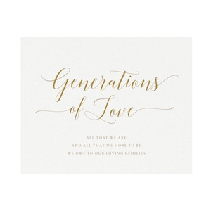 5x7 /& 8x10 non-editable GENERATIONS OF LOVE signs   pdf and jpg digital download high resolution