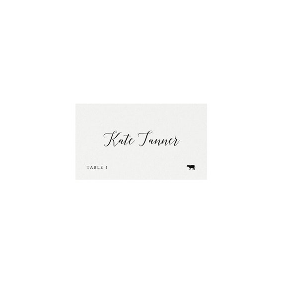 graphic regarding Avery Printable Place Cards titled Adel: Escort Card Printable Template, Evening meal Icons, 3.5x2 AVERY 5302 FOLDED, FLAT Calligraphy Tented Stage Playing cards, Templett Instantaneous Down load