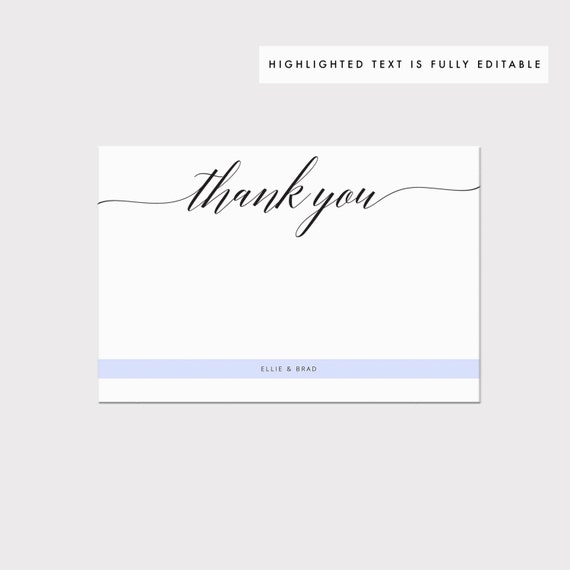 image relating to Printable Thank You Card Templates referred to as Printable Thank Your self Card Template, Whimsical Calligraphy Thank Oneself Card, Editable Stationery, Marriage Card, PDF Instantaneous Down load #SS002_4