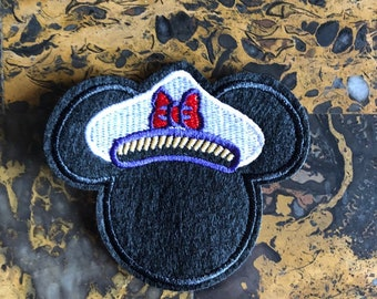 ce9c115744869 1 Captain Minnie Mouse Sailor Ship Nautical Embroidered Iron On Sew On Patch  3